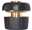 "LQ42SMR - 1/2"" Brass and rubber quick connector with waterstop"